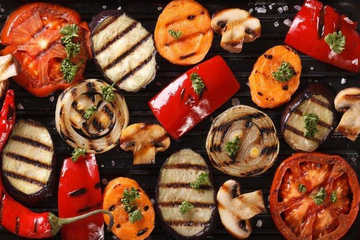 Grilled vegetables, Grilled olives